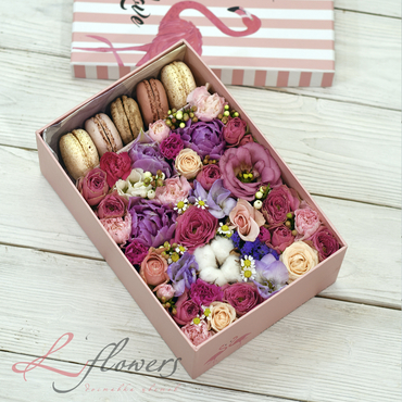 Macaroon boxes - Beauty box - букеты в СПб