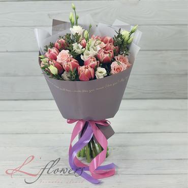 Букеты цветов в ассортименте - Букет Панна котта - букеты в СПб