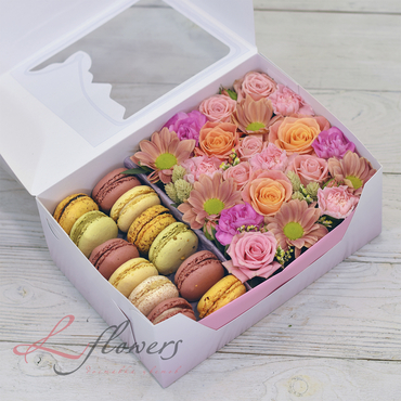 Macaroon boxes - Bloom box - букеты в СПб