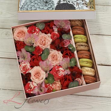 Macaroon boxes - Daisy box - букеты в СПб
