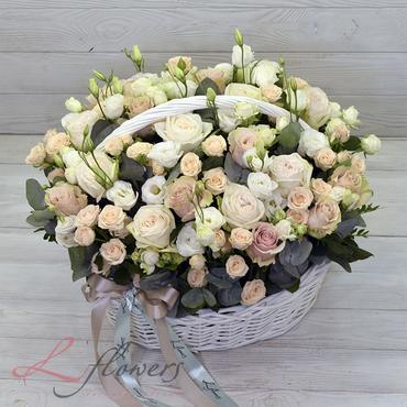 Корзины - Корзина цветов - Колье - букеты в СПб