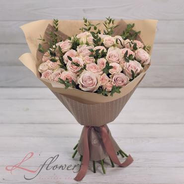 Букеты цветов в ассортименте - Букет Крем-брюле - букеты в СПб