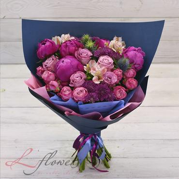 Букеты цветов в ассортименте - Букет Сапфир - букеты в СПб