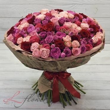Букеты цветов в ассортименте - Букет Семирамида - букеты в СПб