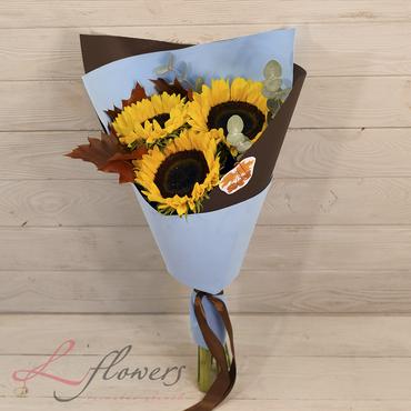 Букеты цветов в ассортименте - Букет Солнышко - букеты в СПб