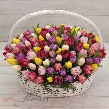Flowers baskets - Basket Spring has come - букеты в СПб