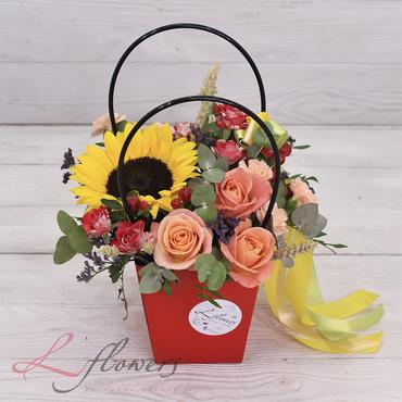 Сумочки с цветами - Настроение - букеты в СПб