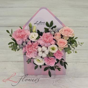 Письма с цветами - Письмо из Венеции - букеты в СПб