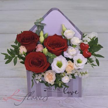 Flower letters - letter of Love - букеты в СПб