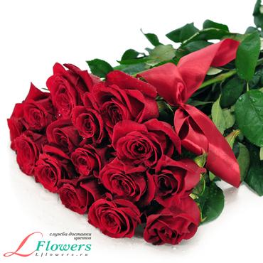Розы - Алые розы 80 см - букеты в СПб