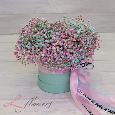 Hat box flowers - Bonnet San Remo - букеты в СПб