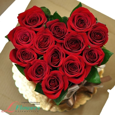 Cakes of flowers  - Red Heart Cake - букеты в СПб